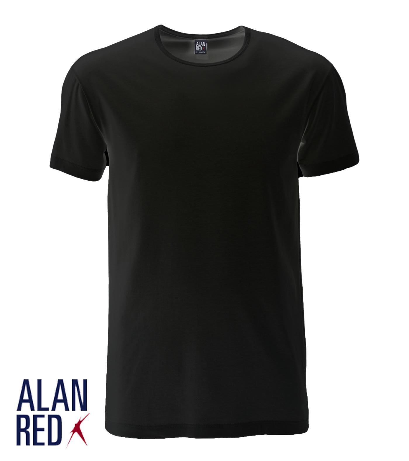 Alan Red t-shirt-zwart-Ottawa stretch-1-pack