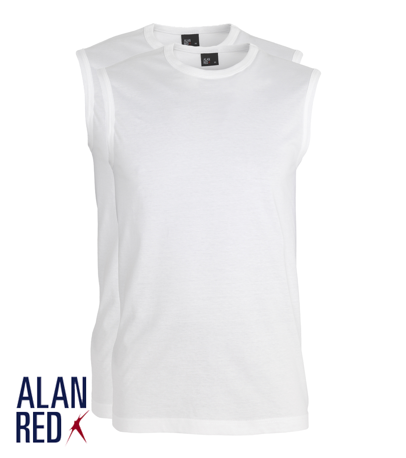 Alan Red Montana - wit 2-pack
