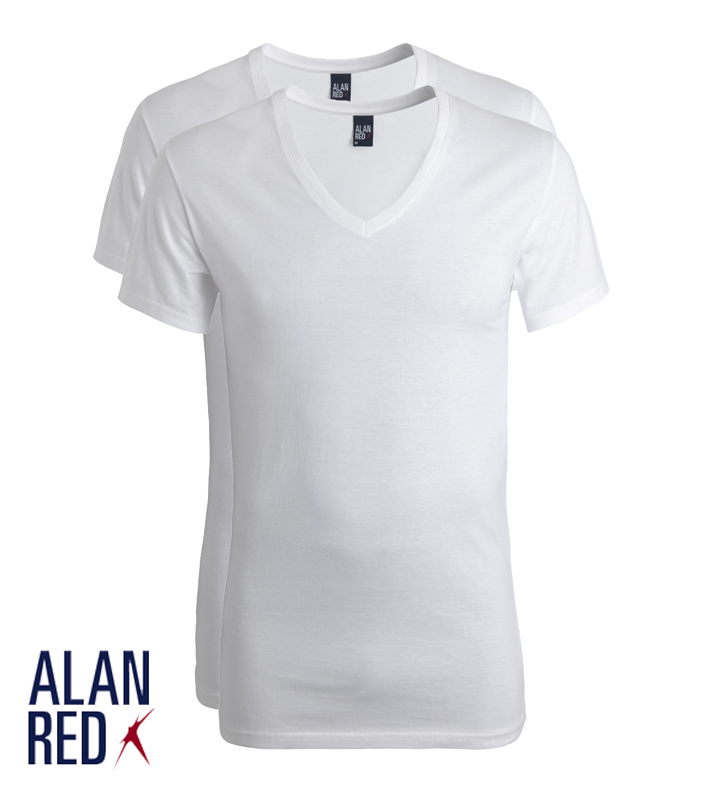 Alan Red Dean-wit 2-pack