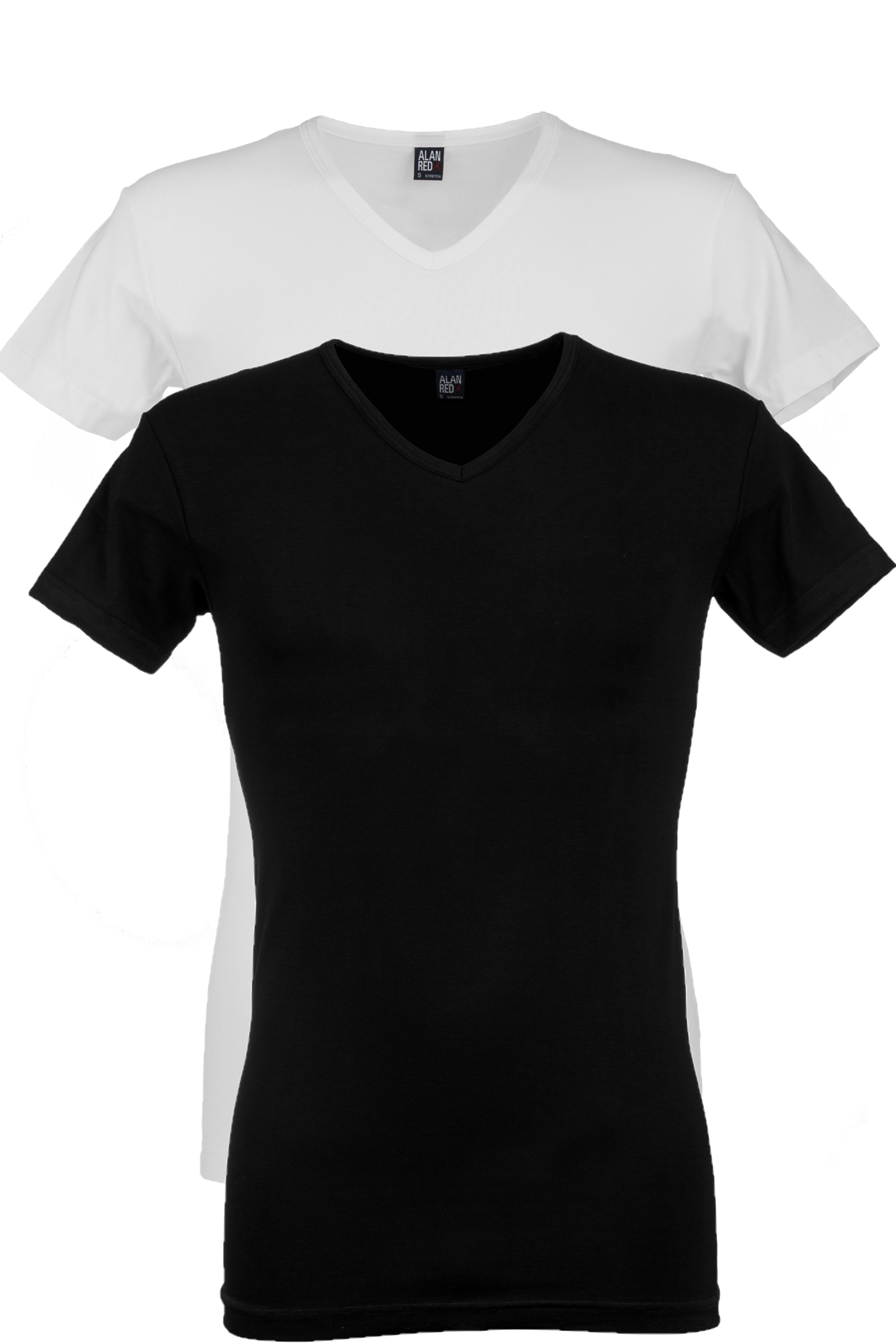 Alan Red Oklahoma stretch - zwart/wit 2-pack